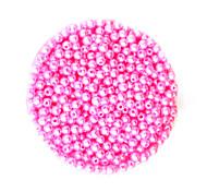 beadia 58g (ca. 2000pcs) 4mm lang abs Perlen rosa Farbe Kunststoff-Perlen