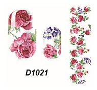 Fashion Flower Nail Art Glitter Sticker