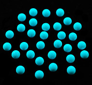 CandyPearl6mm 100pcs/lot Pearl Nail Art Rhinestone Decoration Sky Blue 6mm Round Candy Pearls Nail Tips Decoration