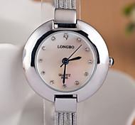 relógios das mulheres europeias e americanas de moda senhoras assistir cadeia de tiras a quente relógio de quartzo do diamante do metal