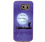 I love you to the moon Pattern TPU Soft Case for Samsung Galaxy S6