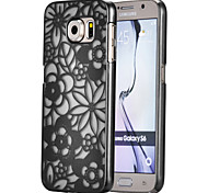 Magic Spider®Black Small Flowers Pattern Ultra Thin Transpareny Hard Back Case Cover for Samsung Galaxy S6