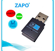 ZAPO W77Usb Wireless Network Card Rtl8192 300M Wireless Card Mini Usb Wireless Receiver Wifi Wireless Card