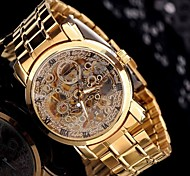 Gentleman Men's Golden Steel Automatic Mechanical Wrist Watch Luxury Watches in Box