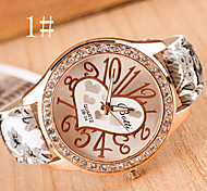 Women's Watches Digital Art Leisure Fashion Watch Pastoral Style Ladies Watch Heart Strap Watch