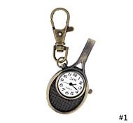 orologi antichi stile vintage tennis creativo racchetta orologio da tasca portachiavi per gli uomini le donne regalo allievo signore