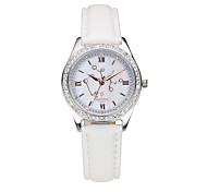Women's Water-Resistant with Man-made Crystal Mother of Pearl Dial Fashion Watch of Sagittarius