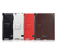 Genuine Leather Full Body Case And Folding Case And Flip Up And Down For Apple New ipad 2/3/4 9.7 Inch