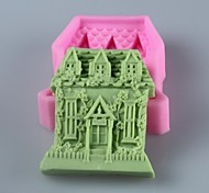 Дом в форме мыла формы помады торт шоколадный силиконовые формы, отделочные инструменты посуда