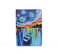 Oil Painting PU Leather Full Body ABS Case with Holder for Samsung Galaxy T800 /Tab S 10.5