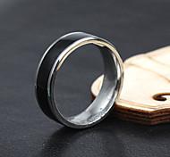 Z&X® Men's Party/Casual Fashion Simple Titanium Steel Rings