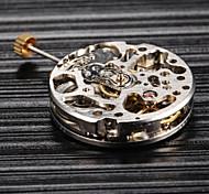 prata movimento automático relógio mecânico