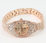 Women's Diamond Decor Dial Rose Gold Band Quartz Bracelet Watch Cool Watches Unique Watches