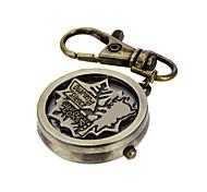 Unique Antique Fashion Alloy Creative Hollow Maple Leaf Pocket Watches Pendent Necklace Key Chain Watch