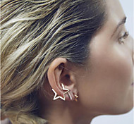 European Style Punk Exaggeration Star Shape Earrings Earrings Earpins