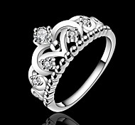 Crown 925 Silver Statement Rings Wedding/Party/Daily/Casual/Sports 1pc