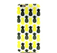 COCO FUN® Black & Yellow Pineapple Pattern Soft TPU IMD Back Case Cover for iPhone 6