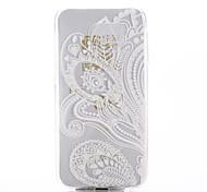 weiß Druckmuster Druck TPU Material Telefonkasten für Samsung-Galaxie-S6