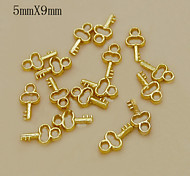 W119 10pcs/lot 5mm*9mm Golden Key Shape Alloy Nail Art DIY So Beautiful Necessary Nail Art Nail Tools