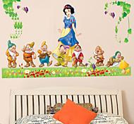 Cartoon Snow White and Seven Dwarfs PVC Wall Sticker Wall Decals
