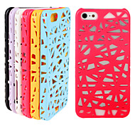 Bird's Nest Pattern PC Pierced Phone Case for iPhone 4/4S(Assorted Colors)