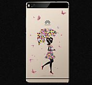 custodia morbida nuova moda 3d bellezza fiore colorato totem del fumetto TPU per Huawei p8