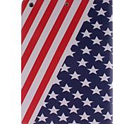 USA-Staatsflagge Bild PU-Leder Ganzkörper TPU Fall mit Kartenhalter für ipad ipad Luft 5