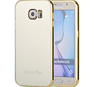 Magic Spider®Gold Mirror Design Metal Bumper Removeable Hard Back Case with Screen Prptector for Samsung Galaxy S6
