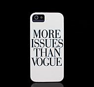 copertura dura frase modello per iphone 5 per il iphone 5 s