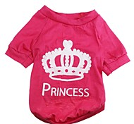 Fashionable Big Crown Pattern T-Shirt for Pets Dogs  (Assorted Sizes)