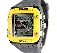Men's Fashion Plastic Band Digital Watch (Assorted Colors)