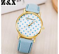 Women's Fashion Diamond Vintage Dot Flower Quartz Analog Leather Print Wrist Watch(Assorted Colors)