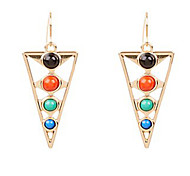 Trigonometry Crack Turquoise Earrings Resin Earrings