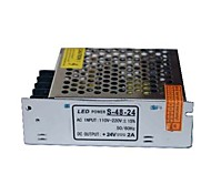 AC110/220V Input Non Waterproof Switching Power Supply Driver with DC24V2A 48W Output