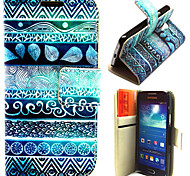 Ancient Figure Pattern with Card Bag Full Body Case for Samsung Galaxy S4 Mini I9190