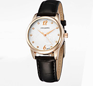 2015 Women Watches  Japanese  Movement Dial Printing Diamond Luxury Watch Classic Crown Genuine Leather