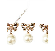Z&X® Alloy Fashion Elegant Bow/Pearl Jewelry Set Party/Daily 1set(Including Necklaces/Earrings)