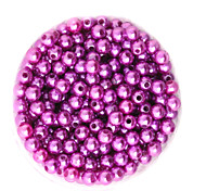 Beadia 100g(Approx 1000Pcs)  ABS Pearl Beads 6mm Round Light Purple Color Plastic Loose Beads For DIY Jewelry Making
