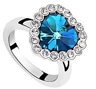 Titanic Sapphire Heart Crystal Sea Ring