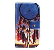 patrón de diseño de moda de la PU cuero y la ranura para tarjetas funda de teléfono celular para el mini i8190n samsung s3