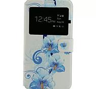 motif de fleurs en cuir PU étui de téléphone portable pour Samsung Galaxy j7