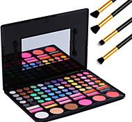 78 colores de pincel de maquillaje profesional de pigmentos de maquillaje kit de herramientas de ojos de brillo de labios sombra de rubor