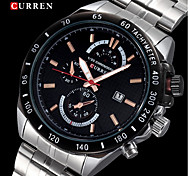 CURREN® Men's Racing Style Dress Watch Japanese Quartz Stainless Steel Strap