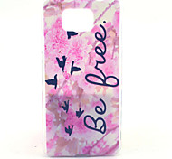 Pink Flower Free Pattern PC Hard Case for Samsung Galaxy Alpha G850 G850F G8508S G8509V Back Cover