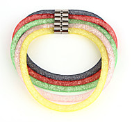 Vilam® Mesh Double Layer Stardust Bracelets With Crystal stones Filled Magnetic Clasp Candy Color Bracelets / Necklace