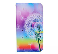 Dandelion  Pattern PU Leather Phone Case For Samsung  Galaxy S6