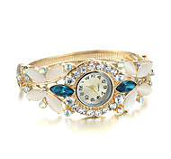Sjewelry Lady Crystal Opal Watch 24K Gold Plating Bracelet