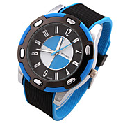 Men's Fashion Style Silicone Tape Quartz Analog  watch Cool Watch Unique Watch
