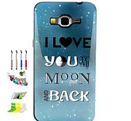 Love You Pattern Combo Material Phone Case And Support Dust Plug Stylus Pen for Samsung Galaxy Grand Prime G530H