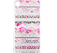 Pink Decoration Pattern Painted Transparent Frosted PC Material Phone Case for Sony Z3